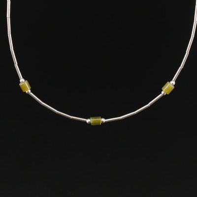 Sterling Silver Serpentine Necklace