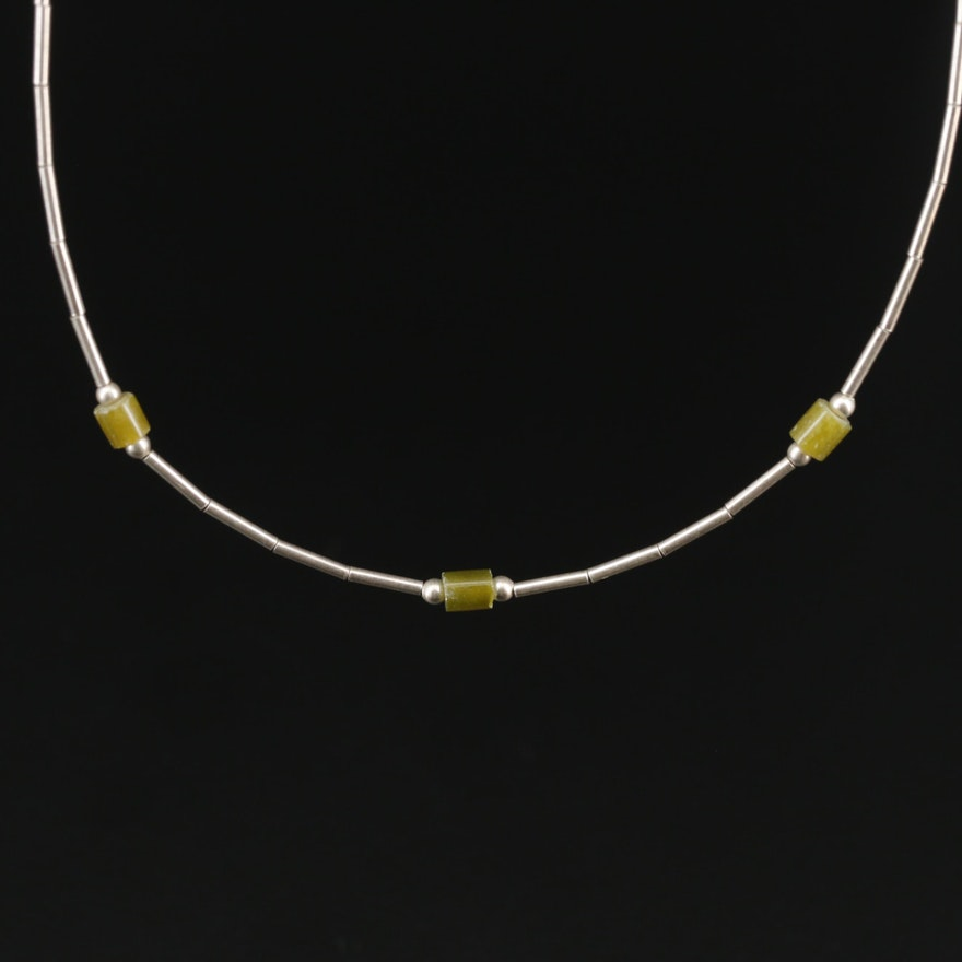 Sterling Silver Serpentine Necklace