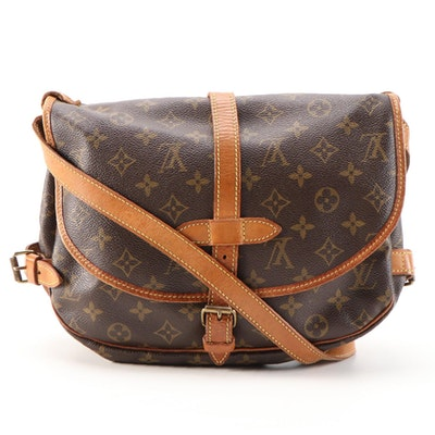 Louis Vuitton Saumur Messenger Bag in Monogram Canvas and Vachetta Leather