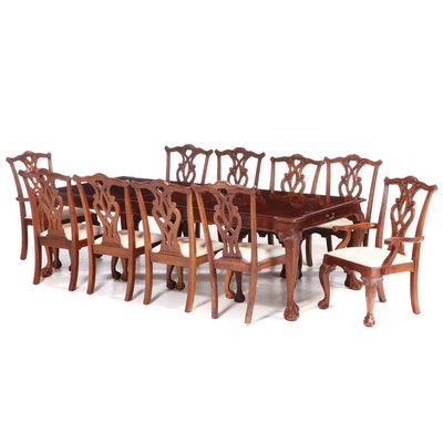 """Stanley Chippendale Style """"Stoneleigh"""" Eleven-Piece Mahogany Dining Set"""