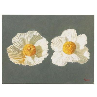 "Peter Lentini Oil Painting ""Crepe"", 21st Century"