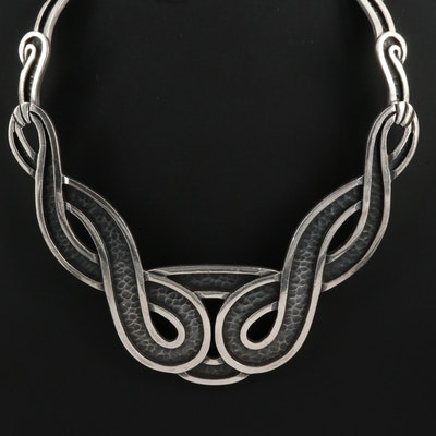Vintage Mexican Modernist Margot de Taxco Sterling Necklace