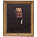 Eastman Johnson Portrait Oil Painting of Distinguished Gentleman, 1877
