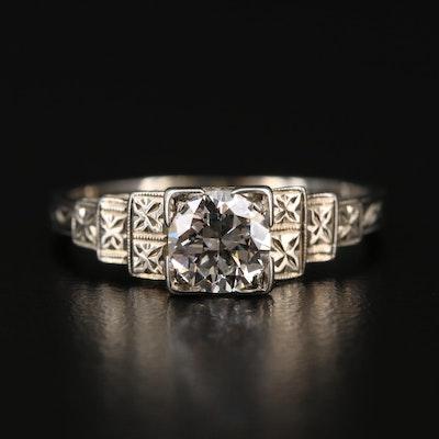 Art Deco 14K Diamond Ring
