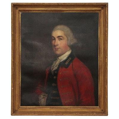 British Gentleman Oil Portrait, Circle of Robert Hunter, Late 18th Century