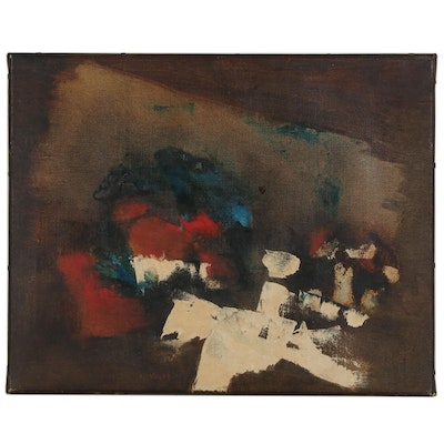 "Jan Le Witt Abstract Oil Painting ""Palio"", 1961"