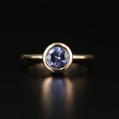 14K and Tanzanite Round Ring