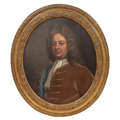 Oil Portrait of Gentleman, Circle of Jonathan Richardson, Early 18th Century