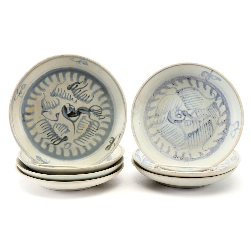Chinese Ming Swatow Ware Ceramic Dishes, Early to Mid 20th Century