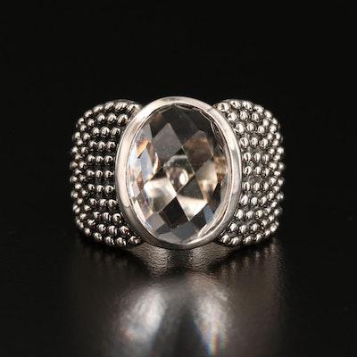 Michael Dawkins Sterling Silver Rock Crystal Quartz Ring