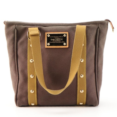 Louis Vuitton Antigua Cabas MM Studded Tote in Brun Canvas