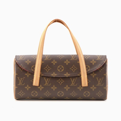 Louis Vuitton Sonatine Bag in Monogram Canvas and Vachetta Leather
