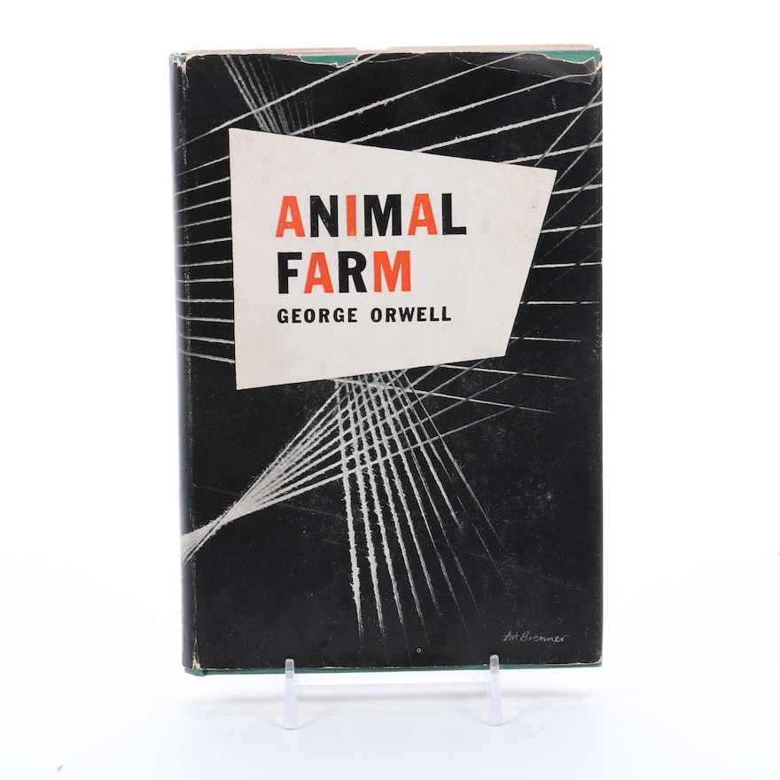 "Early Edition ""Animal Farm"" by George Orwell with Dust Jacket, 1946"