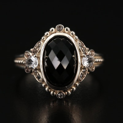 Sterling Silver Topaz and Spinel Ring