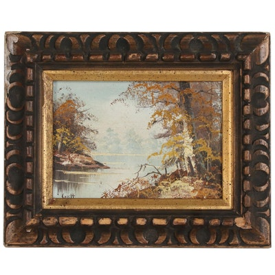 Scott Autumnal Landscape Oil Painting, Late 20th Century