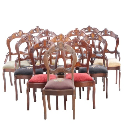 Assembled Set of Twelve Victorian Side Chairs