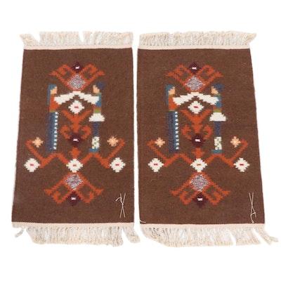 Handwoven Russian Kilim Rugs, 1970s