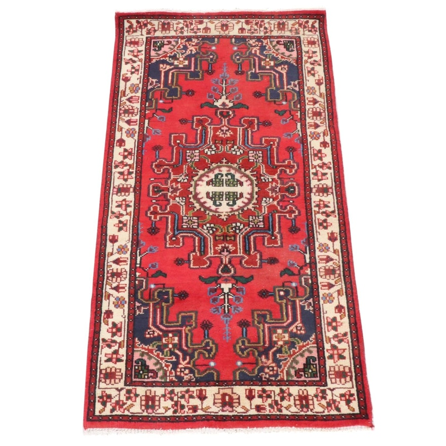 2'4 x 4'6 Hand-Knotted Turkish Village Rug, Late 20th Century