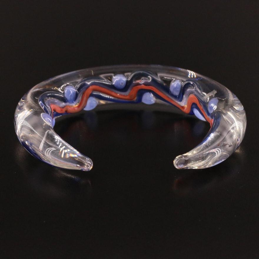 Art Glass Cuff Bracelet