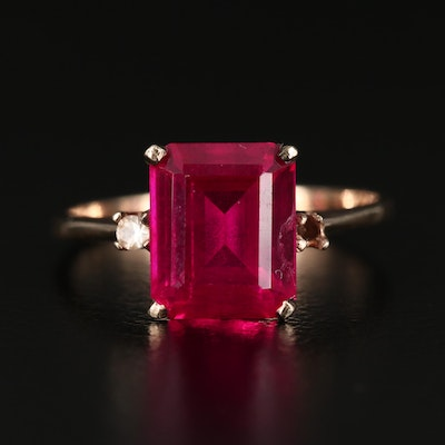 10K Gold Ruby and Spinel Ring
