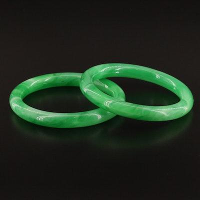 Marbleized Glass Bangles