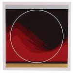 "Thomas W. Benton Abstract Landscape Serigraph ""Sun Mountain"", 1979"