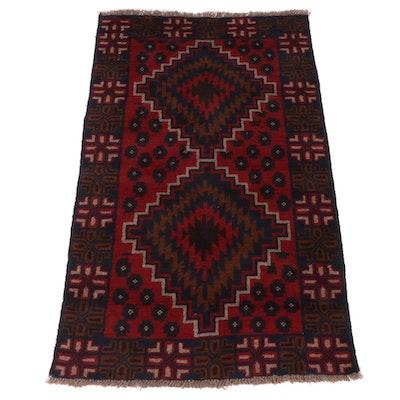 3'8 x 6'1 Hand-Knotted Afghani Turkoman Rug