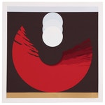"Thomas W. Benton Abstract Serigraph ""Evolution Series - Red"", 1981"