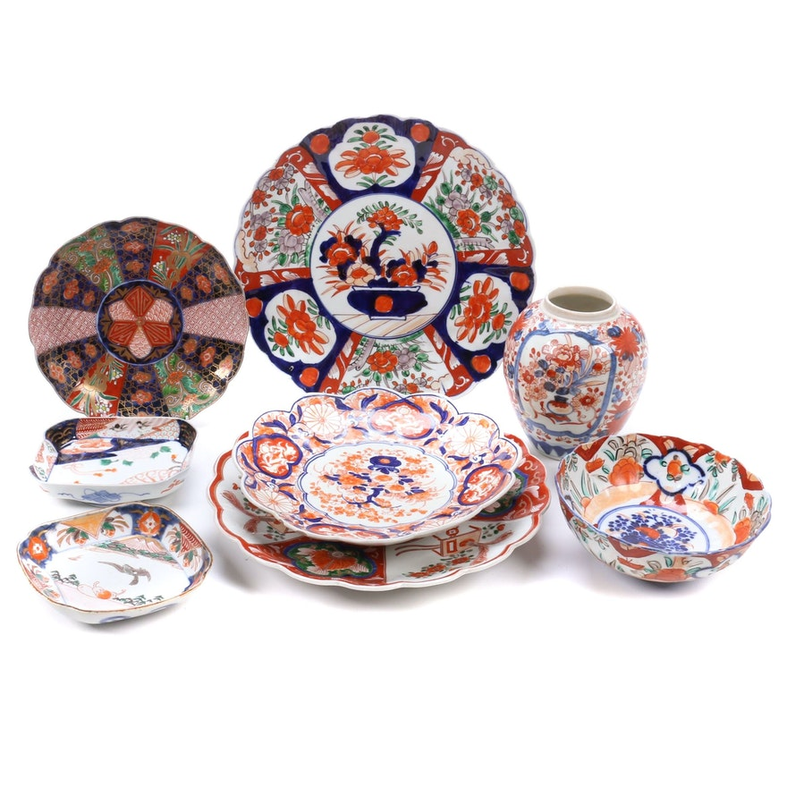 Japanese Hand-Painted Imari Porcelain Tableware