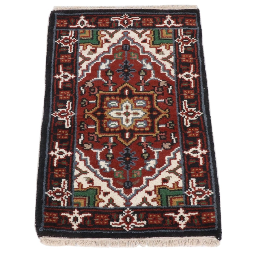 2'1 x 3'2 Hand-Knotted Indo-Persian Heriz Rug, 2010s