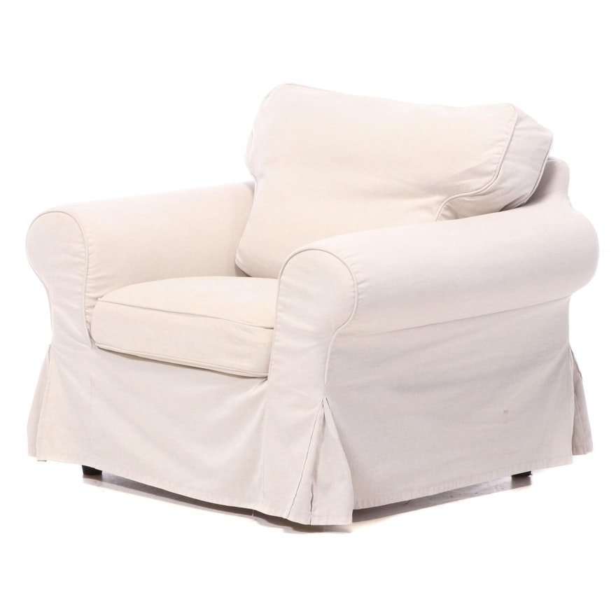 "IKEA ""Ektorp"" Slip-Covered Lounge Chair, Late 20th Century"