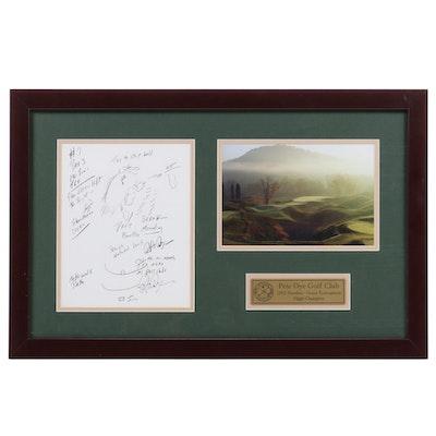 Pete Dye Autographed Golf Hole Design