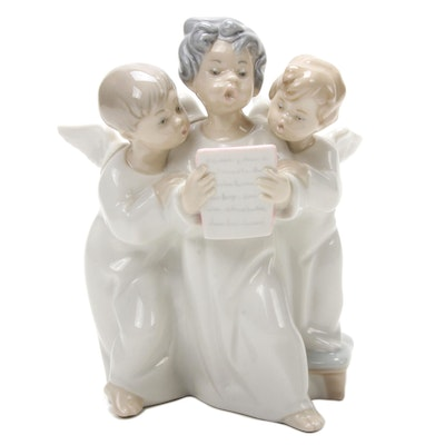 "Lladró ""Angels' Group"" Porcelain Figurine Designed by Fulgencio García"