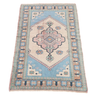 4'5 x 6'10 Hand-Knotted Turkish Caucasian Village Rug, 2000s