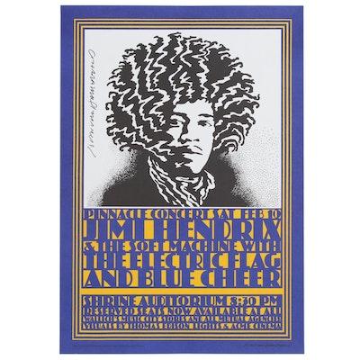 Four Edition Lithograph after John Van Hamersveld for Jimi Hendrix Concert, 2004