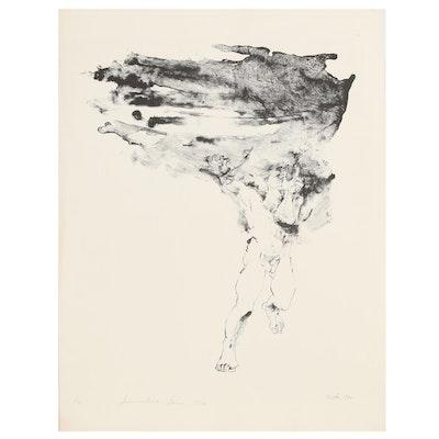 "John Tuska Figural Stone Lithograph ""Summertime Storm"", 1970"