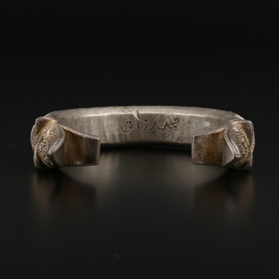 800 Silver Double Headed Makara Cuff Bracelet