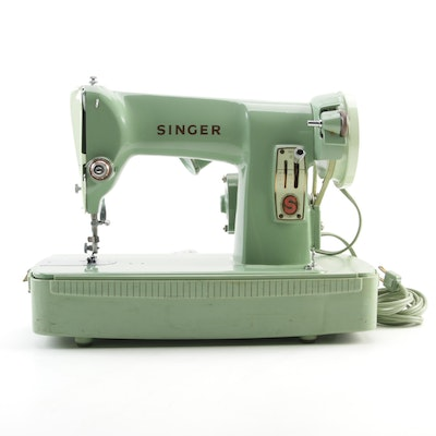 Singer Model 185J Sewing Machine with Case, Mid-20th Century