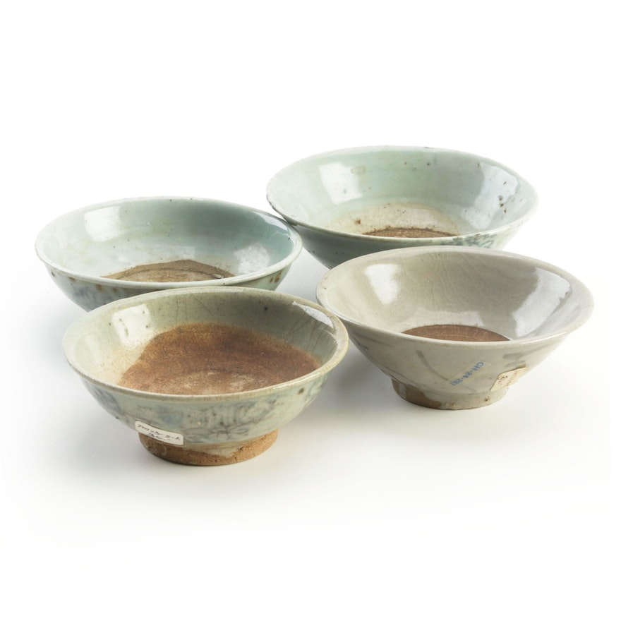 Chinese Swatow Ware Bowls, Ming Dynasty