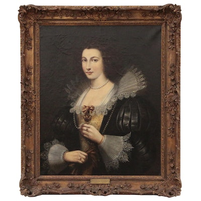 Portrait Oil Painting, Possibly Marie-Louise de Tassis, 18th Century
