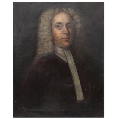 Oil Portrait after John Smibert of Supreme Court Justice Edmond Quincy III