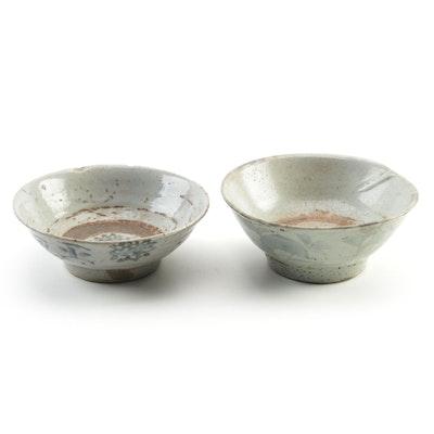 Chinese Ming Swatow Ware Ceramic Dishes,19th century