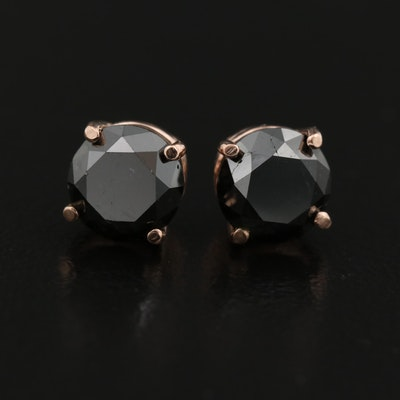 14K Rose Gold 2.45 CTW Diamond Stud Earrings
