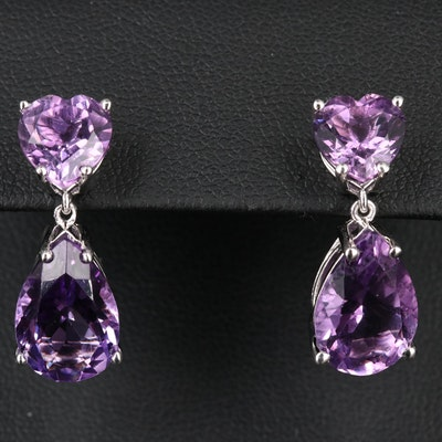 Sterling Amethyst Drop Earrings