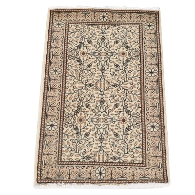 1'11 x 3'0 Hand-Knotted Turkish Kayseri Rug