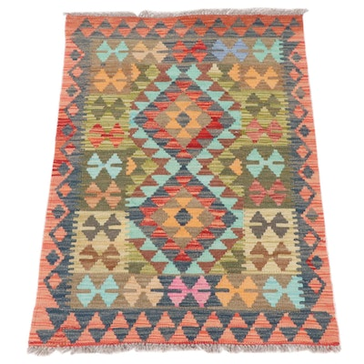 2'8 x 3'10 Handwoven Turkish Kilim Rug