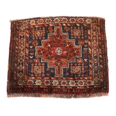 1'11 x 2'3 Hand-Knotted Persian Qashqai Shiraz Rug, 1930s