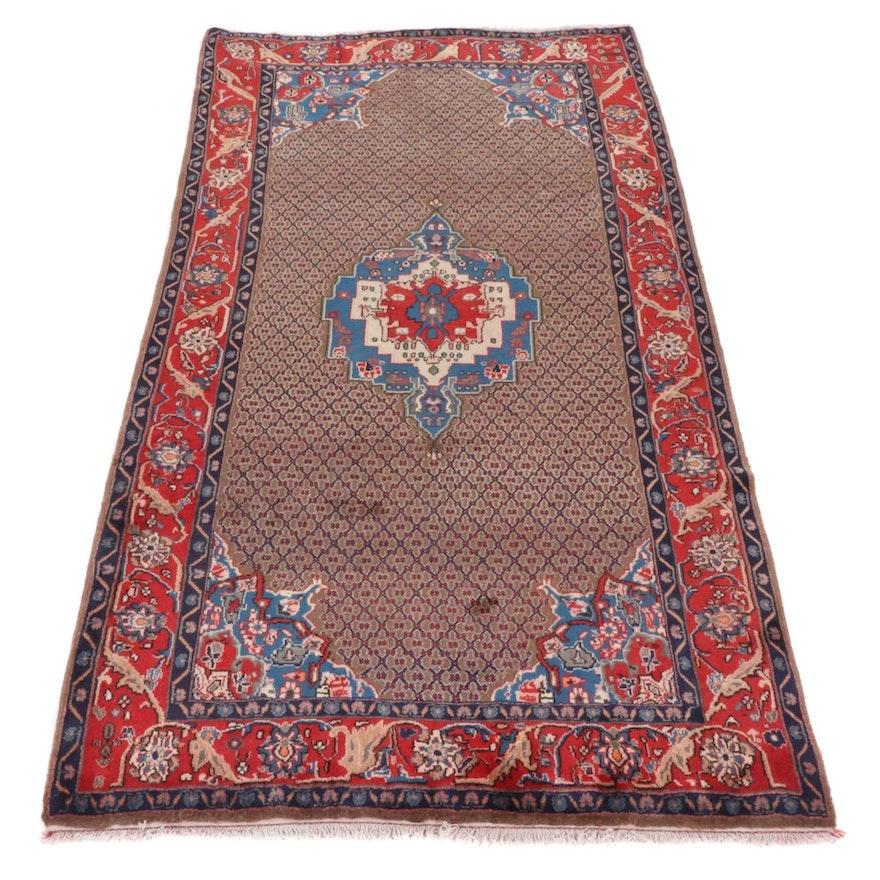 5'0 x 9'6 Hand-Knotted Persian Hamadan Rug
