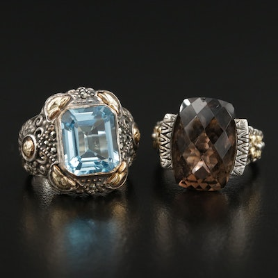 Sterling Smoky Quartz, Topaz and Marcasite Featuring Barbara Bixby