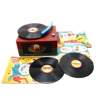 "1948 Capital Records Inc. ""Bozo The Clown"" Phonograph and Records"